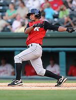 August 25, 2009: Infielder Eduardo Escobar (2) of the Kannapolis Intimidators, South Atlantic League affiliate of the Chicago White Sox, in a game at Fluor Field at the West End in Greenville, S.C. Photo by: Tom Priddy/Four Seam Images