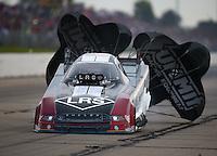May 21, 2016; Topeka, KS, USA; NHRA funny car driver Tim Wilkerson during qualifying for the Kansas Nationals at Heartland Park Topeka. Mandatory Credit: Mark J. Rebilas-USA TODAY Sports