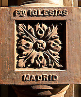 Water pipe tile detail, Madrid, Spain