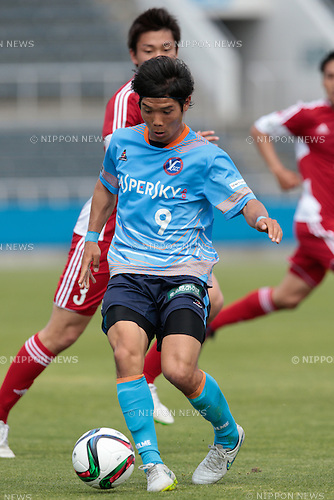 Goki Tomozawa (Y.S.C.C.Yokohama), <br /> APRIL 29, 2015 - Football /Soccer : <br /> 2015 J3 League match <br /> between Y.S.C.C.Yokohama 0-0 U-22 J.League selection <br /> at NHK Spring Mitsuzawa Football Stadium, Kanagawa, Japan. <br /> (Photo by AFLO SPORT)