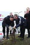 Principal of St.Mary's Congress Avenue, John Weir and Principal of Fatima, Phillip Ward pour soil from both their schools on the site at the Turning of the First Sod on the Site of the new school on the Bryanstown Crossroute...(Photo credit should read Jenny Matthews www.newsfile.ie)....This Picture has been sent you under the conditions enclosed by:.Newsfile Ltd..The Studio,.Millmount Abbey,.Drogheda,.Co Meath..Ireland..Tel: +353(0)41-9871240.Fax: +353(0)41-9871260.GSM: +353(0)86-2500958.email: pictures@newsfile.ie.www.newsfile.ie.