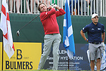 Wales Phil Glenister tees off <br /> <br /> Celebrity Cup 2019 - Golf - Celtic Manor resort - Saturday 13th July 2019 - Newport<br /> <br /> © www.fotowales.com- PLEASE CREDIT IAN COOK