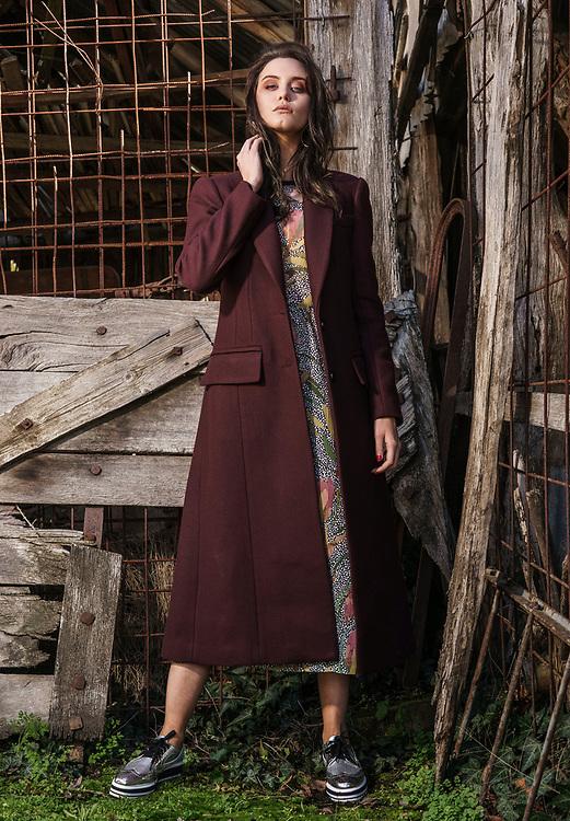 Sunday MAil Fashion with Mirella , Winter Coats , Harndorf.   Photo: Nick Clayton