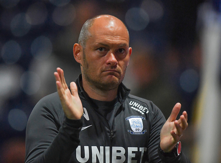 Preston North End's Manager Alex Neil<br /> <br /> Photographer Dave Howarth/CameraSport<br /> <br /> The Carabao Cup Second Round - Preston North End v Hull City - Tuesday 27th August 2019  - Deepdale Stadium - Preston<br />  <br /> World Copyright © 2019 CameraSport. All rights reserved. 43 Linden Ave. Countesthorpe. Leicester. England. LE8 5PG - Tel: +44 (0) 116 277 4147 - admin@camerasport.com - www.camerasport.com