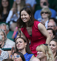 Former Chinese tennis player Li Na in the Royal box on Centre Court <br /> <br /> Photographer Rob Newell/CameraSport<br /> <br /> Wimbledon Lawn Tennis Championships - Day 6 - Saturday 7th July 2018 -  All England Lawn Tennis and Croquet Club - Wimbledon - London - England<br /> <br /> World Copyright v&Ccedil;&not;&copy; 2017 CameraSport. All rights reserved. 43 Linden Ave. Countesthorpe. Leicester. England. LE8 5PG - Tel: +44 (0) 116 277 4147 - admin@camerasport.com - www.camerasport.com