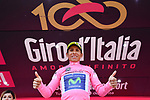 Nairo Quintana (COL) Movistar Team takes over the race leaders Maglia Rosa at the end of Stage 19 of the 100th edition of the Giro d'Italia 2017, running 191km from San Candido/Innichen to Piancavallo, Italy. 26th May 2017.<br /> Picture: LaPresse/Gian Mattia D'Alberto | Cyclefile<br /> <br /> <br /> All photos usage must carry mandatory copyright credit (&copy; Cyclefile | LaPresse/Gian Mattia D'Alberto)
