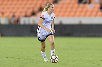 Houston, TX - Saturday July 08, 2017: Lindsey Horan looks to pass the ball during a regular season National Women's Soccer League (NWSL) match between the Houston Dash and the Portland Thorns FC at BBVA Compass Stadium.