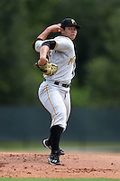 GCL Pirates pitcher Gerardo Navarro (66) delivers a pitch before a game against the GCL Phillies on June 26, 2014 at the Carpenter Complex in Clearwater, Florida.  GCL Phillies defeated the GCL Pirates 6-2.  (Mike Janes/Four Seam Images)