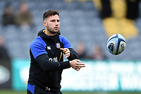 Max Green of Bath Rugby passes a ball prior to the match. Gallagher Premiership match, between Worcester Warriors and Bath Rugby on January 5, 2019 at Sixways Stadium in Worcester, England. Photo by: Patrick Khachfe / Onside Images