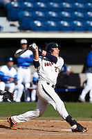 Nate Johnson #24 of the Pepperdine Waves bats against the Seton Hall Pirates at Eddy D. Field Stadium on March 8, 2013 in Malibu, California. (Larry Goren/Four Seam Images)