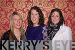 Abbeyfeale girls Margaret Healy and sisters Maria and Aine O'Connor at the Gala West Limerick Fashion Show last Thursday in the Devon Inn, Templeglantine in aid of the Invalid Section of Limerick Diocesan Pilgrimage to Lourdes...