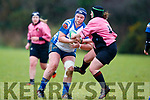 Maire Collins, Tralee in action against Nora Kelliher Ballincollig, in the Munster Women's Qualifying League at O'Dowd Park on Sunday
