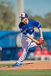 6 March 2019: Toronto Blue Jays pitcher Ken Giles on the mound during a Spring Training game against the Philadelphia Phillies at Dunedin Stadium in Dunedin, Florida. The Blue Jays defeated the Phillies 9-7 in Grapefruit League play. Mandatory Credit: Ed Wolfstein Photo *** RAW (NEF) Image File Available ***