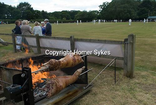 Ebernoe Horn Fair West Sussex UK 2015. Lamb roast