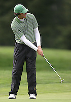 22 May, 2010:   Loyola Colleges Alex Redfearn sets up for his shot on hole ten during day three of the first round of the NCAA West Regionals at Gold Mountain Golf course in Bremerton, WA.