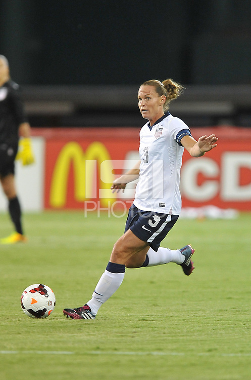 Christie Rampone (3) of the USWNT.  The USWNT defeated Mexico 7-0 during an international friendly, at RFK Stadium, Tuesday September 3 , 2013.