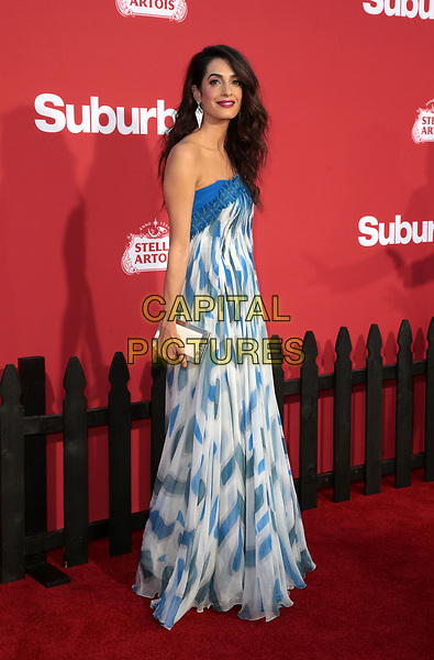 WESTWWOD, CA - October 22: Amal Clooney, At The Premiere Of Paramount Pictures' 'Suburbicon' At the Village Theatre California on October 22, 2017. <br /> CAP/MPI/FS<br /> &copy;FS/MPI/Capital Pictures