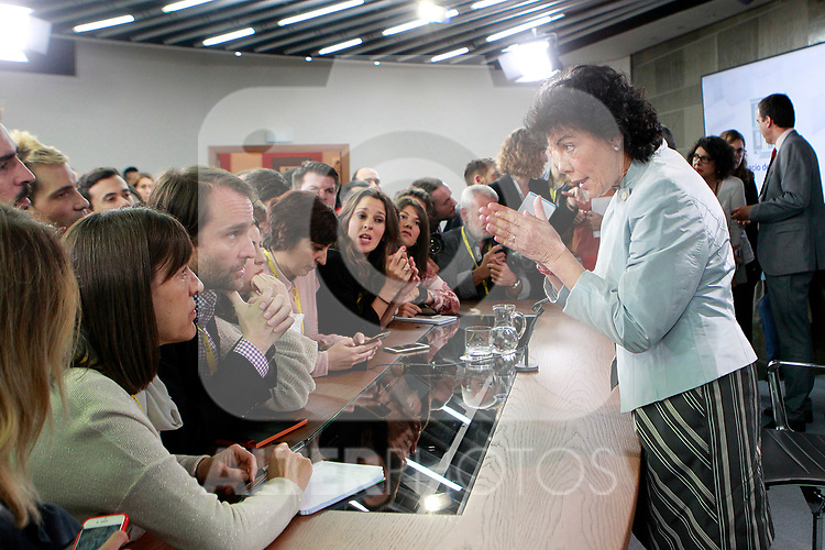 Isabel Celaa, Minister of Education, Professional Training and Spokesperson with the journalists after press conference about the first Council of Ministers of the new Government of Spain, chaired by Pedro Sanchez. June 8,2018. (ALTERPHOTOS/Acero)