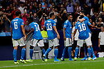 Players of Juventus celebrate goal during UEFA Champions League match between Atletico de Madrid and Juventus at Wanda Metropolitano Stadium in Madrid, Spain. September 18, 2019. (ALTERPHOTOS/A. Perez Meca)