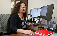 NWA Democrat-Gazette/DAVID GOTTSCHALK  Dr. Nia Aitaoto, director of the Pacific Islander Health Center through the University of Arkansas for Medical Science, in her office at the Northwest Campus, Tuesday, November 8, 2016, in Fayetteville.