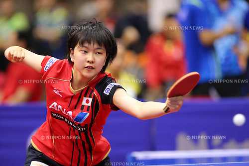 Rira Ishikawa (JPN), JUNE 19, 2013 - Table Tennis : The Japan Open 2013, U-21 Women's Singles Qualifications at Yokohama Cultural Gymnasium in Kanagawa, Japan. (Photo by AFLO SPORT)