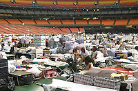 Katrina Evacuees in the Houston Astrodome