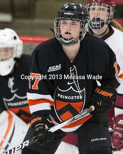 Brianne Mahoney (Princeton - 17) - The Harvard University Crimson defeated the visiting Princeton University Tigers 4-0 on Saturday, October 26, 2013, at Bright-Landry Hockey Center in Cambridge, Massachusetts.