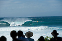 Empty wave line up at Pipeline on the Northshore of Oahu in Hawaii.