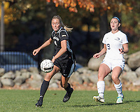 Manchester, New Hampshire - October 11, 2014: NCAA Division II. Saint Anselm College (white) defeated College of St. Rose (black), 2-0, on Melucci Field at Saint Anselm College.