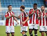 Sheffield United's Dan Lafferty celebrates with Billy Sharp during the League One match at the Priestfield Stadium, Gillingham. Picture date: September 4th, 2016. Pic David Klein/Sportimage
