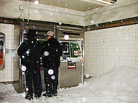 One of the largest blizzards to ever hit New York City,  February 17, 2003.