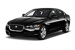 2017 Jaguar XE - 4 Door Sedan Angular Front stock photos of front three quarter view