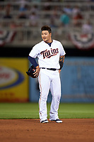 Minnesota Twins designated hitter Byung Ho Park (52) during a Spring Training game against the Boston Red Sox on March 16, 2016 at Hammond Stadium in Fort Myers, Florida.  Minnesota defeated Boston 9-4.  (Mike Janes/Four Seam Images)