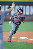 Lehigh Valley IronPigs left fielder Danny Ortiz (6) runs the bases during a game against the Buffalo Bisons on June 23, 2018 at Coca-Cola Field in Buffalo, New York.  Lehigh Valley defeated Buffalo 4-1.  (Mike Janes/Four Seam Images)