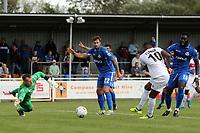 Morgan Ferrier of Dagenham sees his goal ruled out for offside during Eastleigh vs Dagenham & Redbridge, Vanarama National League Football at the Silverlake Stadium on 12th August 2017