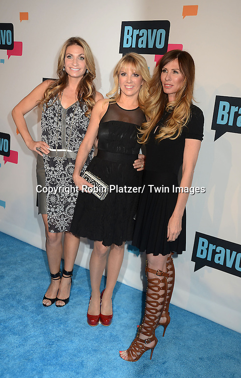 Heather Thomson, Ramona Singer and Carole Radziwill  of New York Housewives arrives at the Bravo 2013  Upfront on April 3, 2013 at Pillars 37 Studio in New York City.
