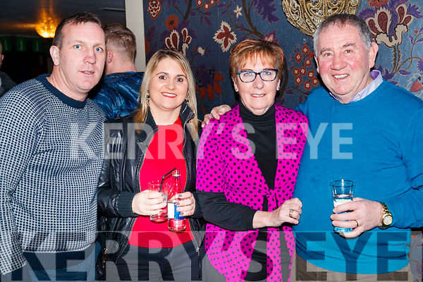 John Mike and Sharon Dooley with Ann and JP Dillane, enjoying the Causeway Beard Festival, on Saturday night last.