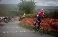 Tanel Kangert (EST/EF Education First) is the first up the Côte de La Redoute<br /> <br /> 105th Liège-Bastogne-Liège 2019 (1.UWT)<br /> One day race from Liège to Liège (256km)<br /> <br /> ©kramon