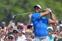 Tiger Woods (USA) watches his tee shot on 3 during round 1 of The Players Championship, TPC Sawgrass, at Ponte Vedra, Florida, USA. 5/10/2018.<br /> Picture: Golffile | Ken Murray<br /> <br /> <br /> All photo usage must carry mandatory copyright credit (&copy; Golffile | Ken Murray)