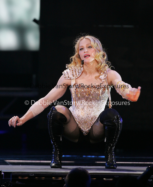 "Madonna performs live at The Pond of Anaheim during her ""Re-Invention Tour"" in Anaheim,California on June 3,2004.(Pictured:Madonna). Copyright 2004 by RockinExposures"