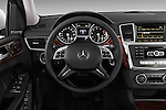 2013 Mercedes GL-Class GL450 Luxury SUV Steering wheel view Stock Photo