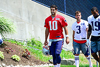 June 13, 2017: New England Patriots quarterback Jimmy Garoppolo (10) walks to the practice field at the New England Patriots organized team activity held on the practice field at Gillette Stadium, in Foxborough, Massachusetts. Eric Canha/CSM