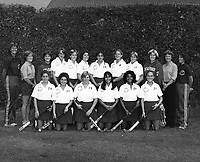 1982: Stanford Field Hockey Team: Bottom Row, Left to Right: Julie Erman, Lisa Jacobsen, Lisa Stewart, Suzanne Doi, Linda De Los Reyes. Top Row, Left to Right: Onnie Killefer (Head Coach), Janet Luce (Assist. Coach), Hillary Werhane, Mary Donahue, Karen Chamberlain, Terri Boyle, Kathy Nicholson, Jennifer Bleakley, Bonnie Warner, Rachel Smith (Assist. Coach), Noelle Mitchell (Assist. Coach).