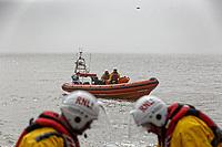 2018 04 20 RNLI and MCA take part in exercise using drone, St Donats, Wales, UK