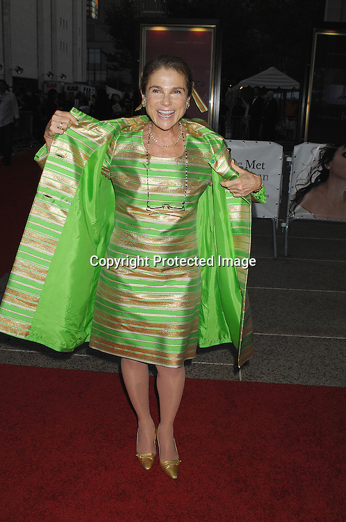 Tovah Feldshuh in a dress that her mother bought in the 1960's..arriving at The Metropolitan Opera 2007-08 Opening Night on September 24, 2007 at The Metropolitan Opera House..in Lincoln Center in New York City. ....photo by Robin Platzer, Twin Images ....212-935-0770