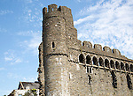Castle tower and walls, Swansea, West Glamorgan, South Wales, UK