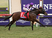 DEL MAR, CA - NOVEMBER 03: Mendelssohn won the Juvenile Turf race on Day 1 of the 2017 Breeders' Cup World Championships at Del Mar Thoroughbred Club on November 3, 2017 in Del Mar, California. (Photo by Sue Kawczynski/Eclipse Sportswire/Breeders Cup)