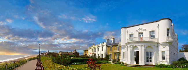 Edwardian house on the seafront overlooking the beach oc Southwold, Suffolk, England