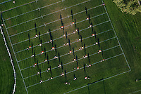 football practice aerial view MIT, cambridge, MA