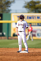 Brent Seifert (4) of the Missouri State Bears stands on second base during a game against the Southern Illinois University- Edwardsville Cougars at Hammons Field on March 9, 2012 in Springfield, Missouri. (David Welker / Four Seam Images)